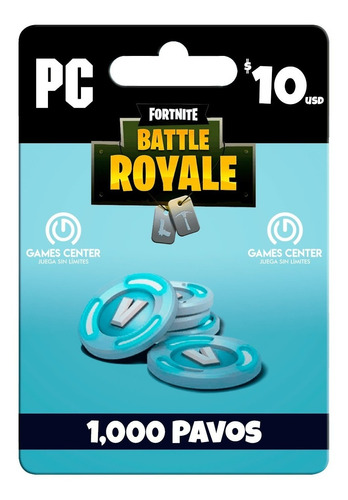 fortnite 1000 pavos - pc - global