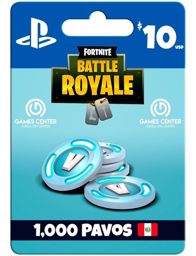 fortnite 1000 pavos ps4 - perú