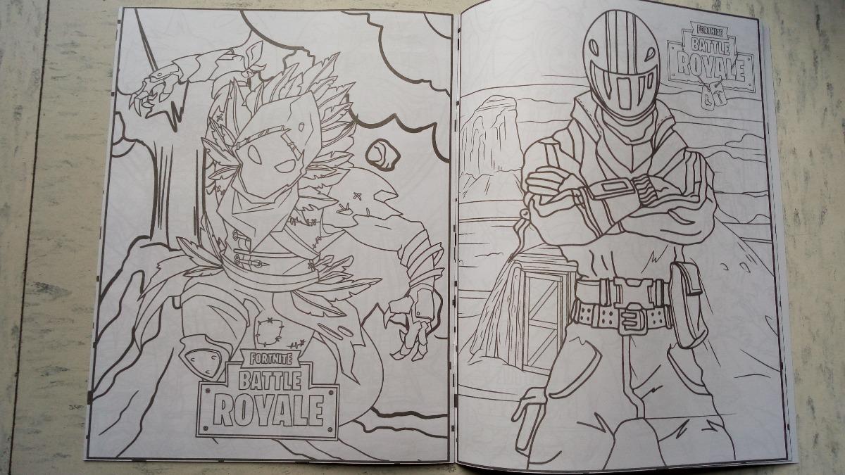 Fortnite Battle Royal Set 10 Libros Iluminar Colorea C ...