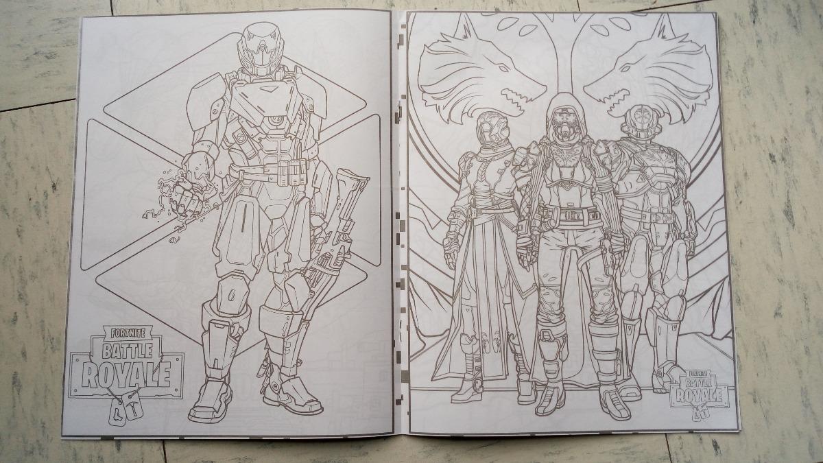 Game Para Colorear: Fortnite Battle Royal Set 50 Libros Iluminar Colorea C