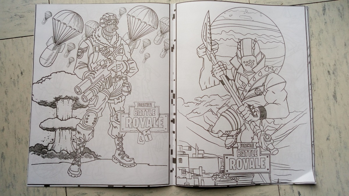 Fortnite Battle Royale Paq 6 Libros Iluminar Colorea Epic