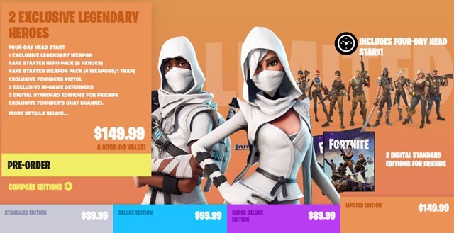 fortnite free limited edition