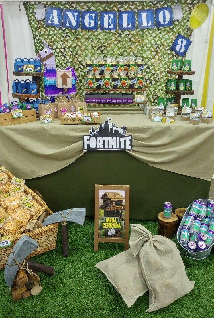 fortnite fiesta mesa de dulces 180 productos personalizada