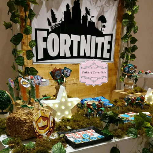 fortnite - mesa tematica personalizada! candy bar