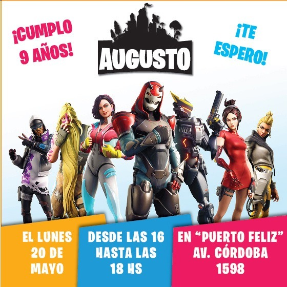 Fortnite Temporada 9 Invitaciones Imprimibles Whatsapp
