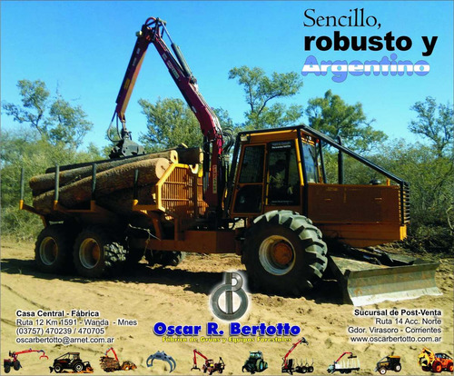forwarder 160th ls 4x4 y 6x6 - oscar bertotto