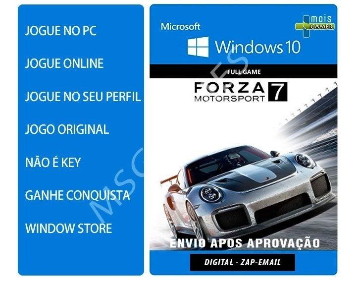 Forza 7 Pc - Forza Motorsport 7 - Pc Windows 10 - Original