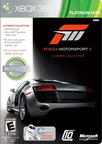 forza motorsport 3 ultimate collection xbox 360