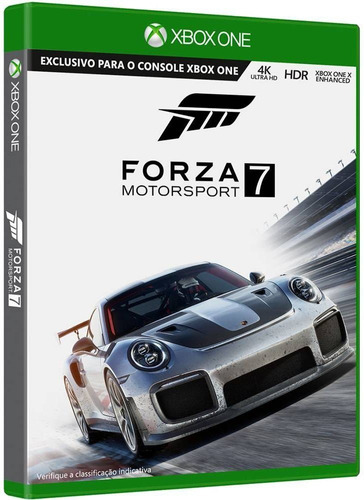 forza motorsport 7 mídia física 4k hdr xbox one s x