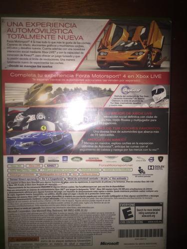 forza motorsport consola xbox 360