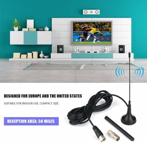 fosa hdtv antena, alcance de 50miles amplificador dual a