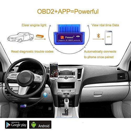 foseal bluetooth obd lector de códigos del coche herramient