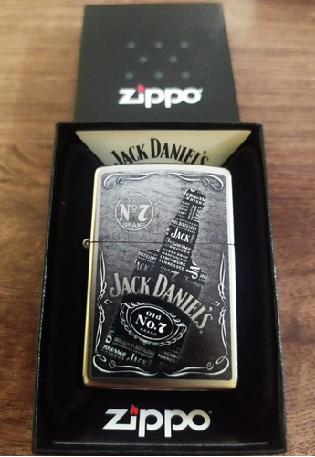 fosforera zippo jack daniel's en caja nueva