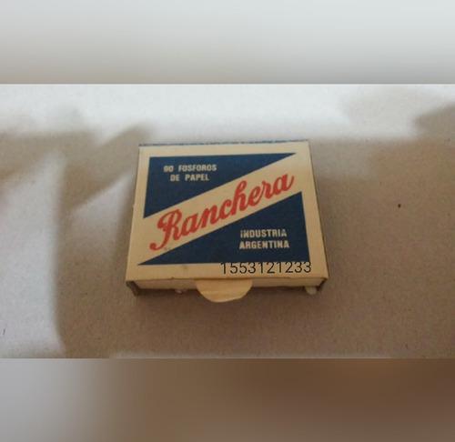 fósforo ranchera paquete de 12 cajitas
