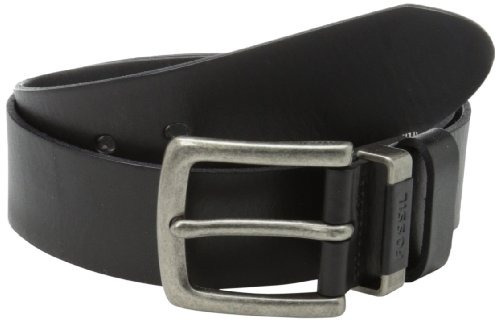 fósil jay's belt, black, 38