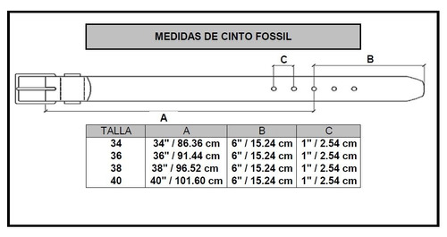 fossil cinto caballero parker mb1274200 reversible