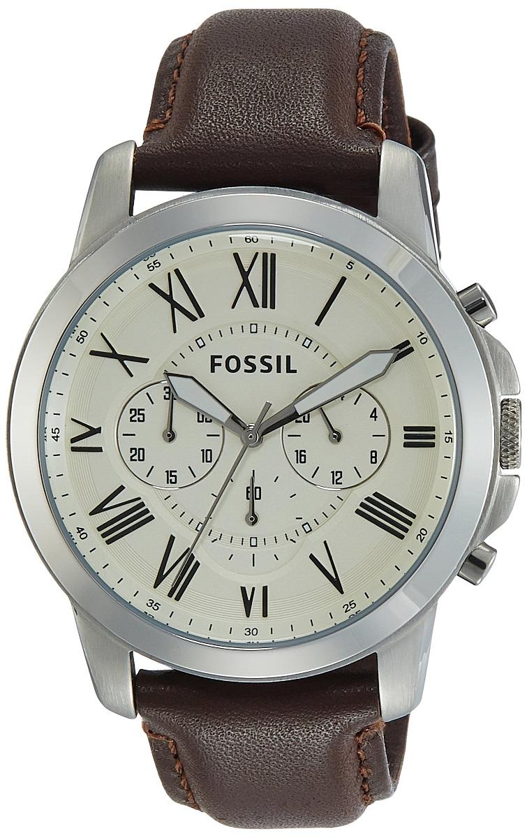 da9b9bcfb212 fossil fs4735 grant reloj de cuero marrón. Cargando zoom.