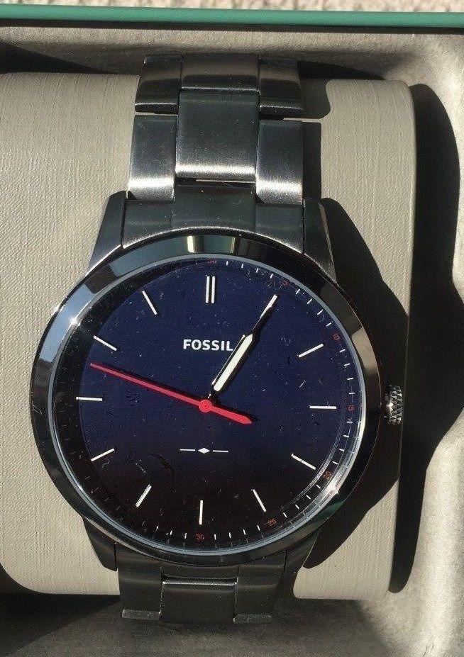 532b4047f82e fossil fs5377 mens el reloj de dial azul acero inoxidable... Cargando zoom.