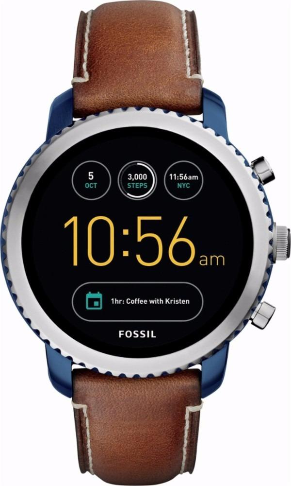 1926e4ab9f262 fossil geração 3 smartwatch q explorist stainless steel blue. Carregando  zoom.