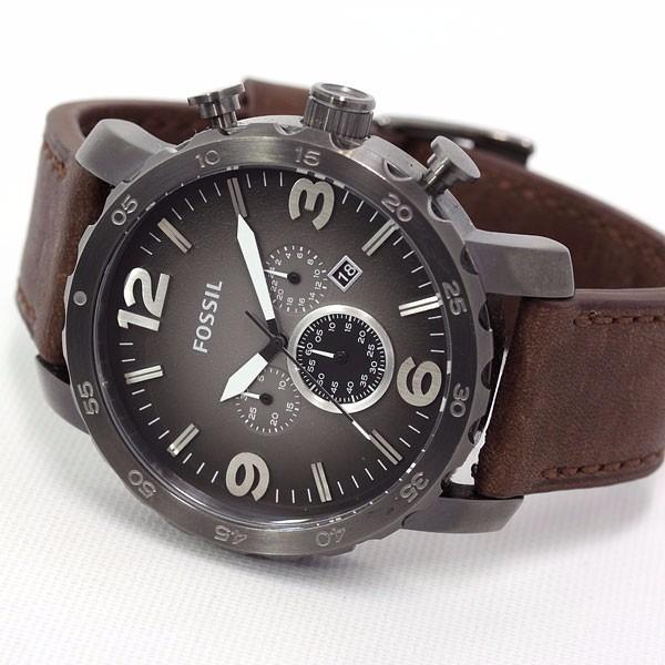 5cc723d2c52b8 Relógio Fossil Masculino Jr1424 Nate Couro Marrom Original - R  842 ...