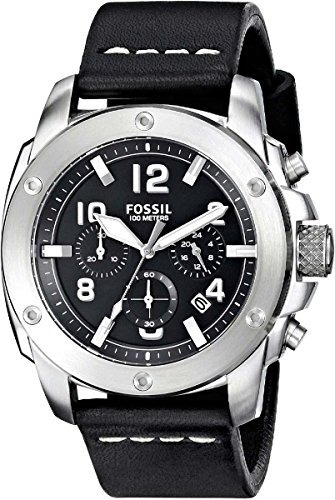 bf4f054f3ce2 Fossil Mens Fs4928 Modern Machine Chronograph Leather Watch -   6
