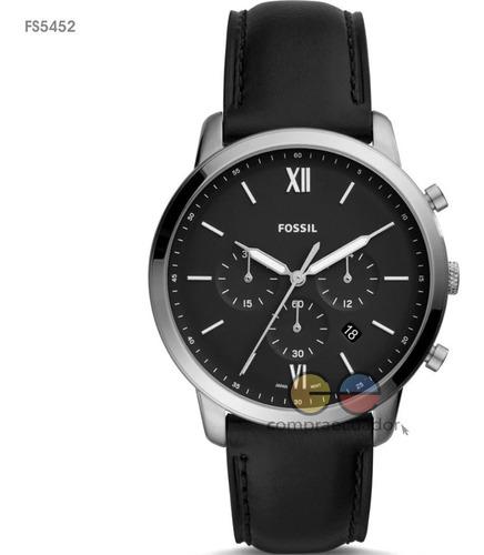 fossil reloj caballero correa metálica cuero original