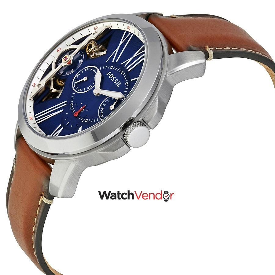 87899d8bc9eeea Fossil Reloj Con Cronógrafo Automático Grant Blue Dial ...