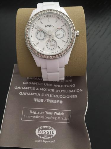 fossil women's es1967 stella quartz white dial watch