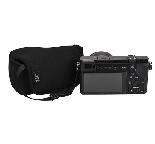 fotasy oc-s1bk black mirrorless camera pouch para sony a6300