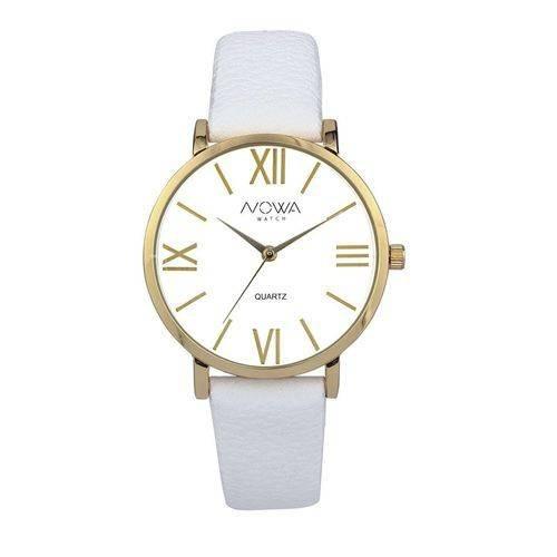 41be7d75292 Foto 1 - Relógio Nowa Feminino Dourado Couro Branco Nw1405k - R  99 ...