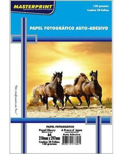 foto adesivo 100un glossy photo paper à prova d´água 130g a4