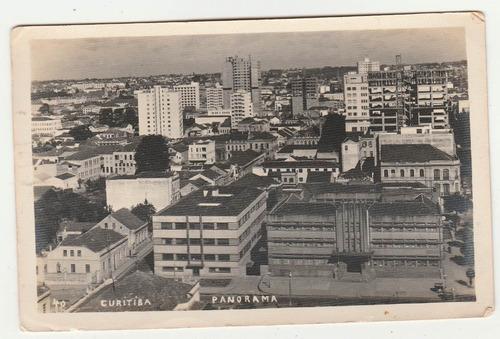 foto antiga - imagem panoramica de curitiba - déc 40/50 - ab