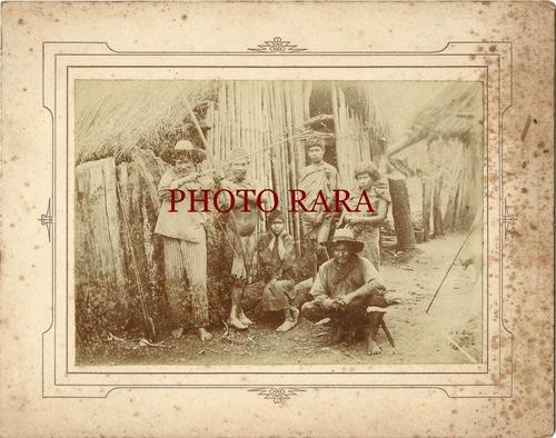 foto antiga - índios mansos de inhacorá/rs- 1905-raro