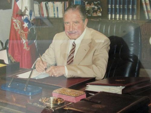 foto autografiada presidente de chile augusto pinochet 1987