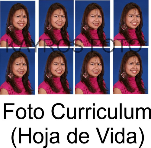 foto carnet instantáneas escolar curriculum visa medica cart