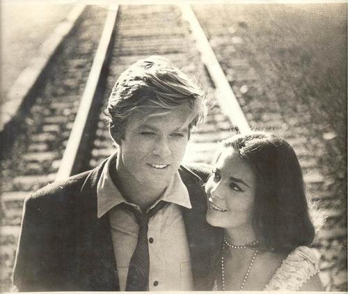 foto cine - robert redford- natalie wodd-1966 original usa.-