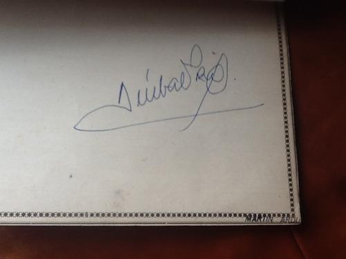 foto de aníbal troilo autografiada del año 1972