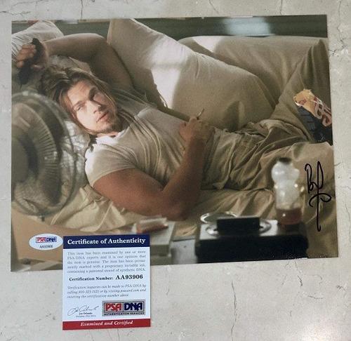 foto firmada por brad pitt certificado psa/dna