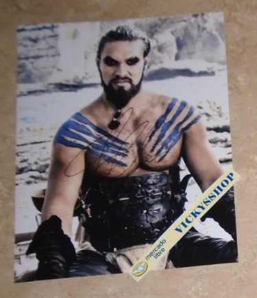 foto firmada por jason momoa certificada games of thrones