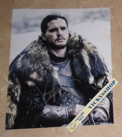 foto firmada por kit harington certificada games of thrones