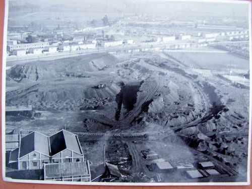 foto gasometros antiguos santiago 1920