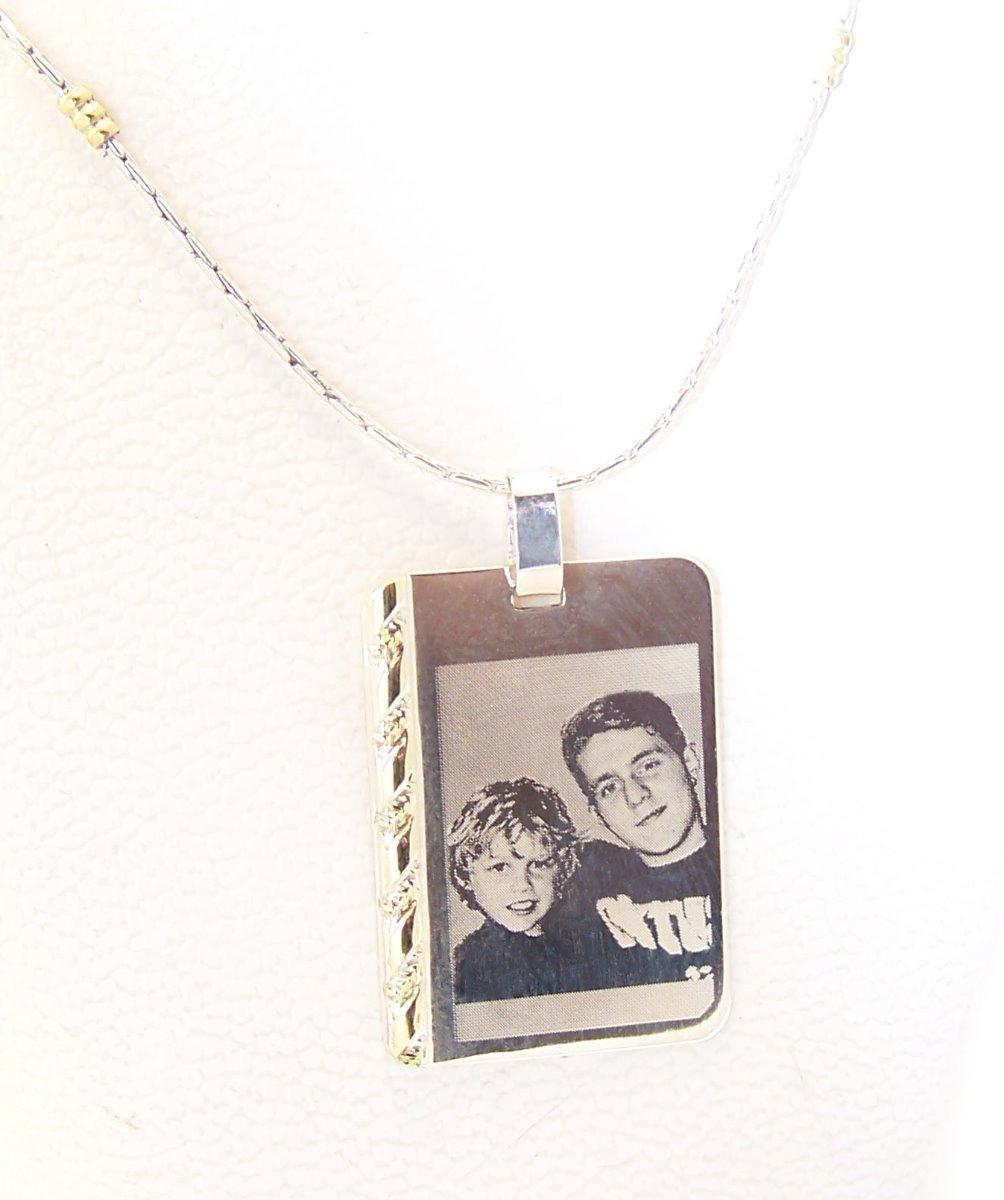 c19832d3ebb5 foto medalla plata 925 oro grabada 15x21mm cadena mujer. Cargando zoom.