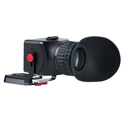 foto movo vf40 universal 3x lcd visor de video flip-up ocul