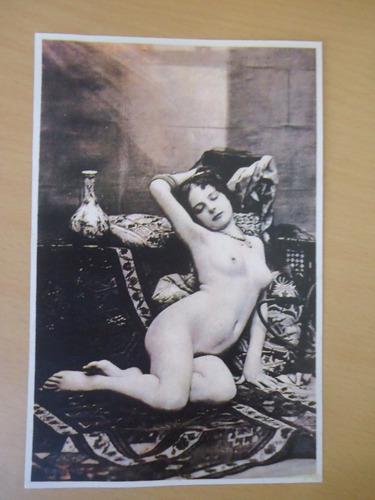 foto nu artístico antigo 1900 em reprodução moderna