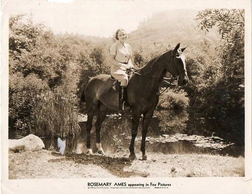 foto original de la actríz americana rosemary ames fox 1934