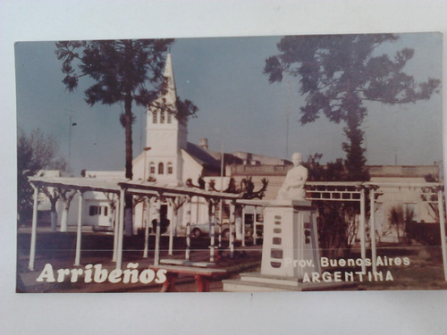 foto postal arribeños prov. bs as