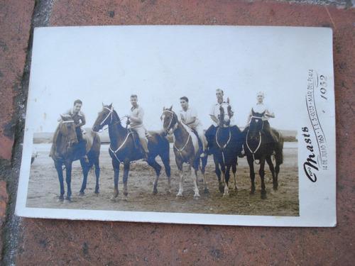 foto postal masis mar del plata caballos 1952