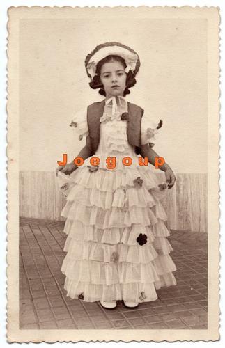 foto postal niña con vestimenta tipica rosario santa fe 1943