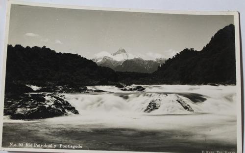 foto postal rio petrohue volcan y puntiagudo años 50 e karl