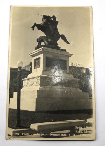 foto postal santiago chile monumento a bernardo o'higgins